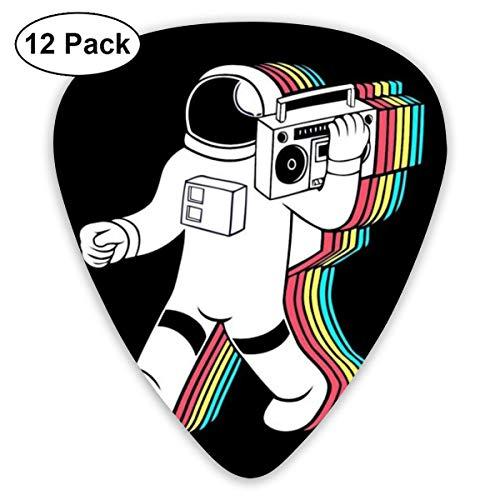 Listen to Music Spaceman Púas de guitarra (paquete de 12) Púas para guitarras eléctricas acústicas, bajo o ukelele, incluye calibres finos, medianos y pesados