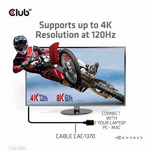 Club 3D Ultra High Speed HDMI™ 4K120Hz, 8K60Hz Kabel 48Gbps St./St. 1,5m, CAC-1370