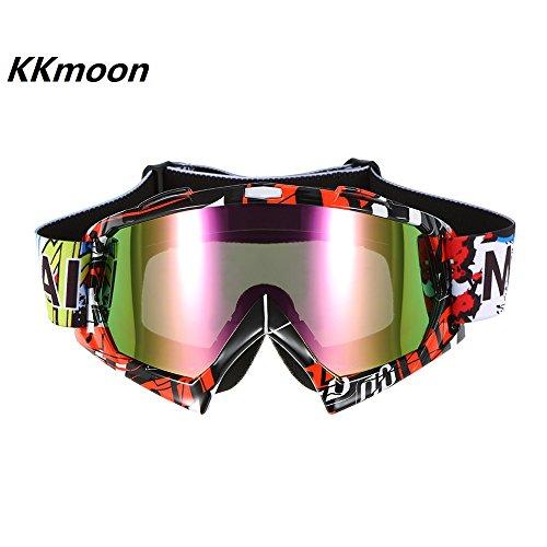 KKmoon Moto Da Corsa Equitazione Ciclismo Occhiali Esterno Sciare Vento-prova Anti-nebbia Bicchiere Colorati Lenti