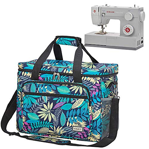 HOMEST Universal Sewing Machine Case with Multiple Pockets for Sewing Notions, Tote Bag Compatible with Singer Quantum Stylist 9960, Singer Heavy Duty 4423, Floral -  TRGB0535