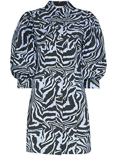 Luxury Fashion   Ganni Dames F4329681 Blauw Katoen Jurken   Lente-zomer 20
