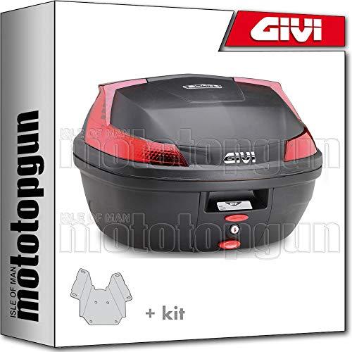 givi maleta b37n + porta-equipaje compatible con piaggio vespa lx 125-150 2009 09 2010 10