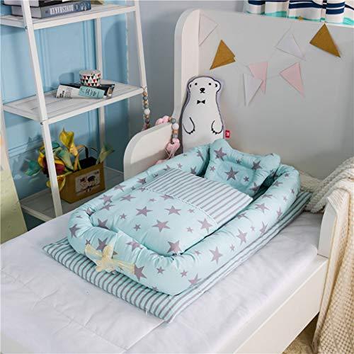 Baby Nest Baby Lounge stoel kussen zacht en comfortabel,0~2 Jaar oude baby Snuggly Baby slapen Sky blue-I