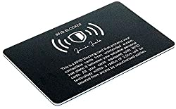 JAIMIE JACOBS ® RFID blocker card RFID protection for credit cards NFC blocker - one card protects the entire wallet - jammer for contactless credit cards (black)