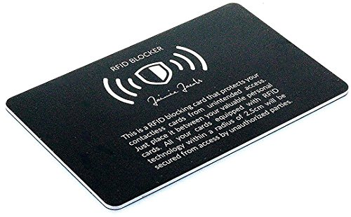 La protección RFID para Tarjetas de crédito de Jaimie Jacobs (Bloqueo RFID y NFC, Tarjetas de crédito sin Contacto) (Negro)