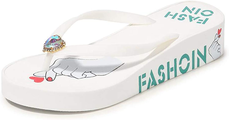Summer Platform Wedges Flip Flops Women Outdoor Beach Non-Slip Creative Slippers