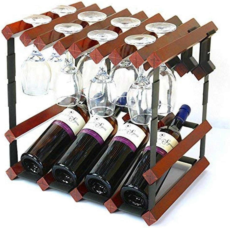 Clothes UK Tamaño : Metro Madera Creative Fold Wine Racks Más Bottled Wine Bottle Holder Decorated Bar Estantería de Vino