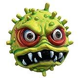 Runstarshow Masque Latex Halloween Virus Réaliste Bactérium Monstre Props Horreur Drôle Fantaisie Accessoires pour Mascarade Party Cosplay Carnaval (Vert)
