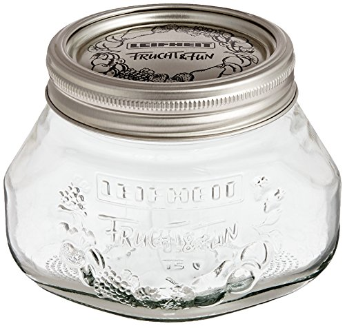 Leifheit 36103 2-Cup Preserve Jar, 1/2-Liter, Set of 6
