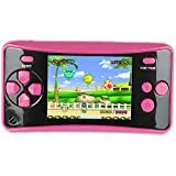HigoKids Portable Handheld Games for Kids 2.5' LCD Screen Game Console TV Output Arcade Gaming Player System Built in 182 Classic Retro Video Games Birthday for Your Boys Girls (Rose Red)