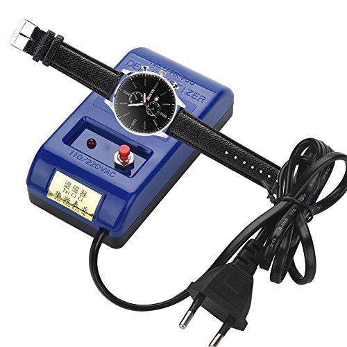 VGEBY Entmagnetisierer Uhren, Uhr Entmagnetisierer Quarzuhr Reparatur Mechanische Armbanduhr Watch Entmagnetisierer Uhr Reparatur Entmagnetisierungswerkzeug Uhr Magnetizer Machine Degaussing Tool