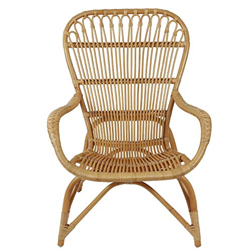 Decor Therapy Kai Arm Chair, Size: 27.17w 31.5d 39.76h, Natural Rattan
