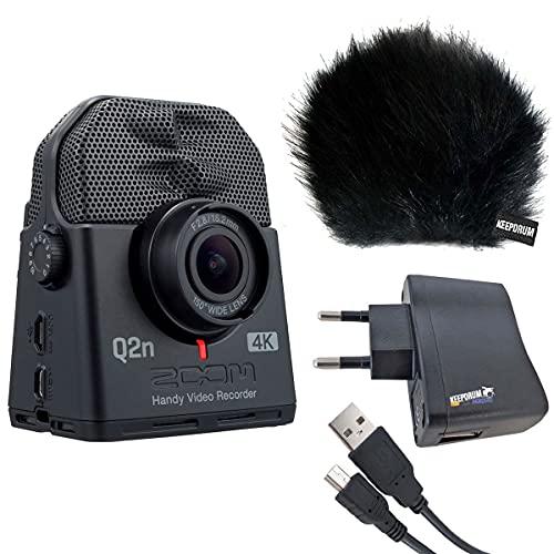 Zoom Q2n-4K - Registratore audio e video con set di accessori Keepdrum