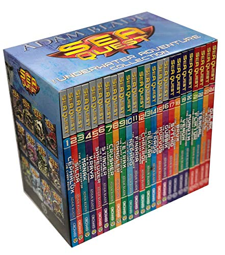 Sea Quest The Underwater Avdenture Collection 24 Books Limited Edition Box Set by Adam Blade (Series 1-6)
