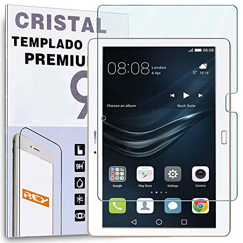 REY Protector de Pantalla para Huawei MEDIAPAD M2 10.1', Cristal Vidrio Templado Premium