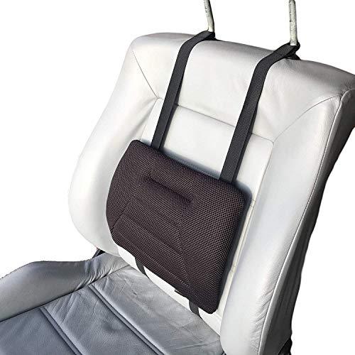 Big Ant, cuscino lombare per auto, supporto lombare per auto, cuscino per la schiena, universale, perfetto per tutti i veicoli, casa, ufficio, sedia a rotelle (nero)