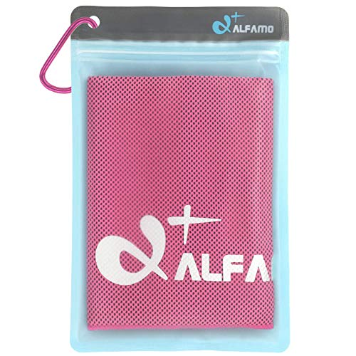 Cooling Towel for Instant Relief (Fuchsia, M) Use As Scarf Bandana Gaiter Soft Breathable ICY Ice Cool Cloth Mesh Neck Towel, Stay Cold for Men Women Kids Dogs, Great Gift for Workout Lovers