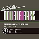 La Bella 7710N/Professional Jazz/Light Tension/Double Bass Strings/Black Nylon Tape Wound on a Rope Core