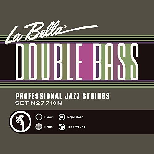 LA BELLA / 7710N Black Nylon Tape Wound コントラバス弦セット