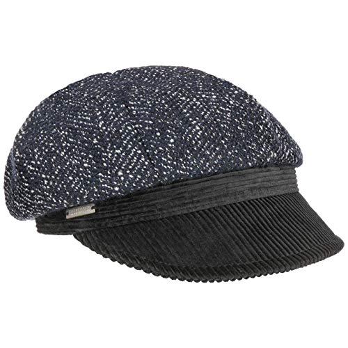 Seeberger Balena Ballonmütze Damencap Wollcap Wintercap Baker-Boy-Mütze (One Size - blau)