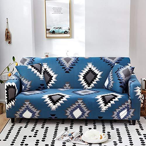Funda de sofá de Sala de Estar con Estampado geométrico a Prueba de Polvo Funda elástica elástica Funda Protectora de Muebles Funda de sofá de Esquina A22 4 plazas