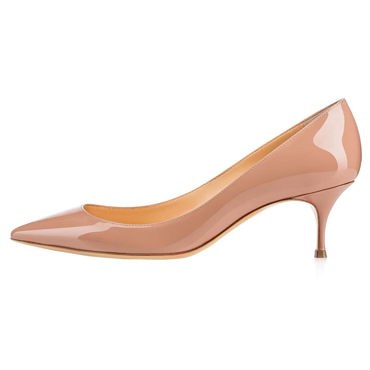 June in Love Women's Low Heels Shoes Pointy Toe Daily Pumps