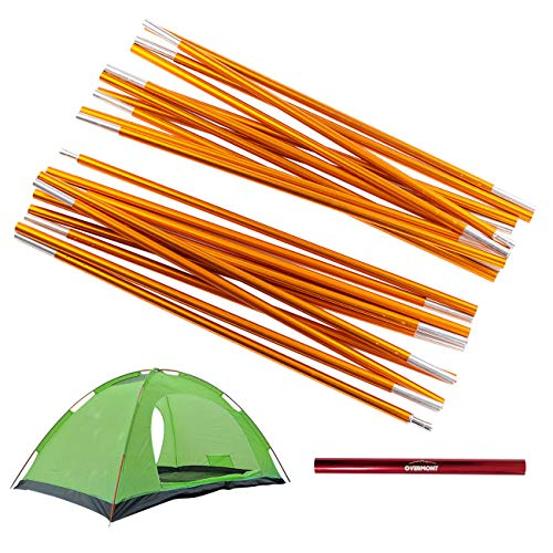 Overmont Camping Tent and Tarp Pole Replacement 142in x2 Aluminum Alloy Adjustable