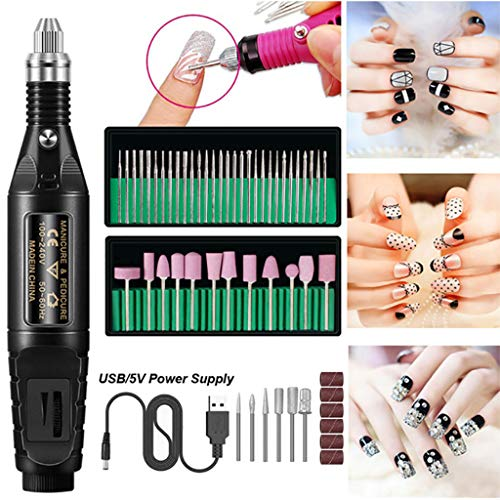 Great Price! Electric Nail Drill Set, Professional Electric Nail Drill Pen File Kit, Manicure Pedicu...