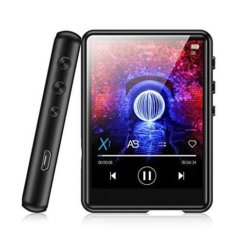 Lettore MP3 Bluetooth 5.0 32GB MECHEN 2.4'' Full Touch Schermo Lettore Musicale Portatile per Correre con Registrazione Line-in Radio FM Riproduzione Video Supporto fino a 128GB