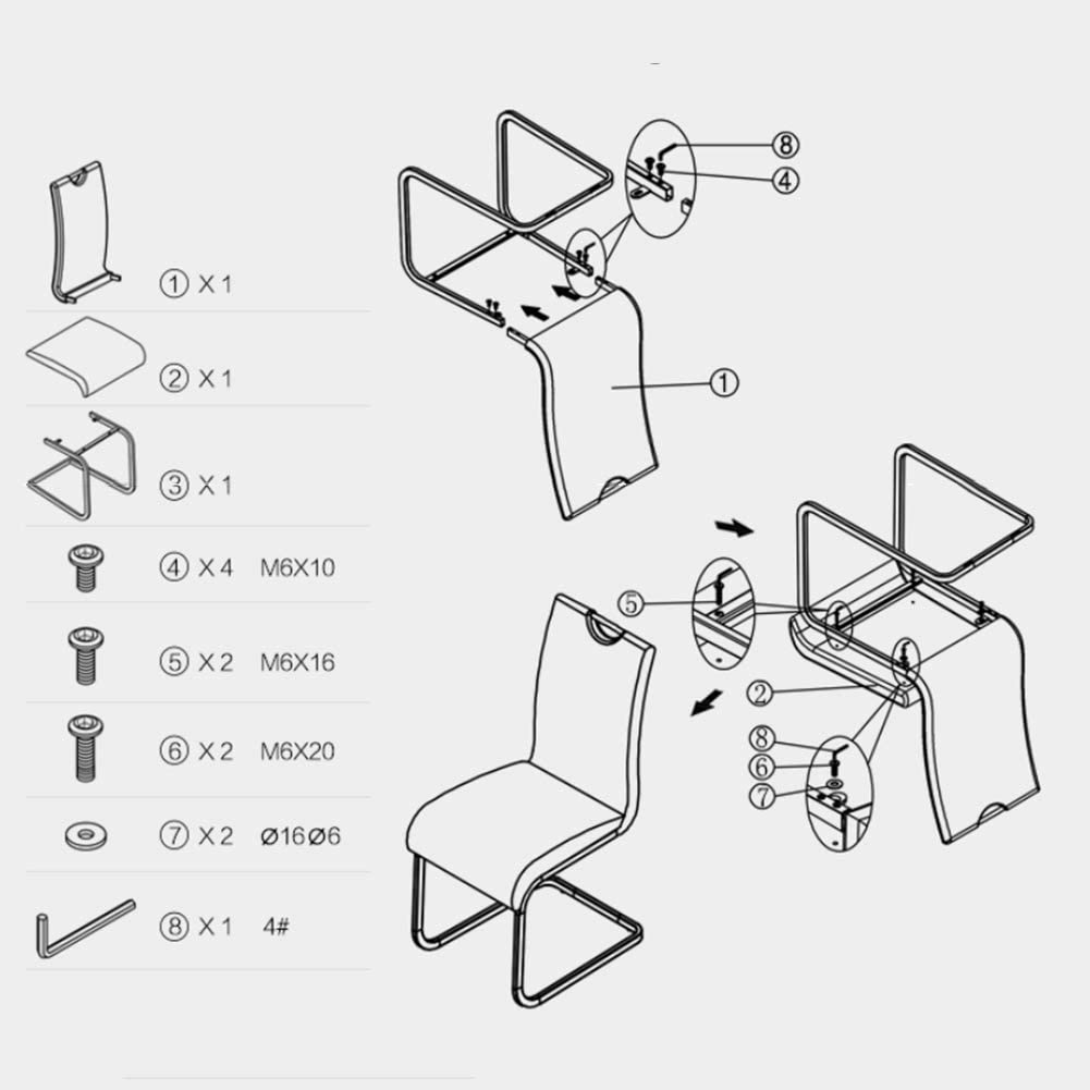 HURONG168 Chaises de cuisine Chaise de salle à manger en cuir minimaliste moderne chaise en cuir chaise de salle à manger en cuir siège lounge (Couleur : Vert) Vert