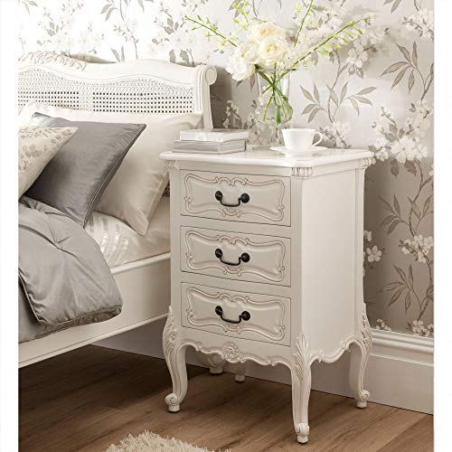 homesdirect365 La Rochelle Antique French Style Bedside Table Small