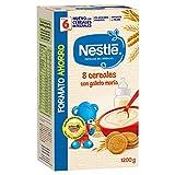 Nestlé Papillas 8 Cereales con Galleta María, A Partir de 6 Meses, 1200g