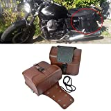 SDHF Motorrad-Zubehör Modified Seite der Box Ledertasche Ritter Bag Kit (schwarz) Z (Farbe : Braun)