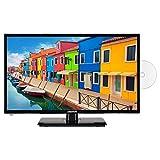 MEDION E12443 59,9 cm (23,6 Zoll) Full HD Fernseher (Triple Tuner, DVB-T2 HD, integrierter DVD-Player, CI+, Mediaplayer, 12V KFZ Car-Adapter)