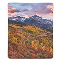 パソコンデスクパッド マウスパッド 多機能 防水性 耐油性 長寿命 携帯便利 秋の色の風景サンファン山脈