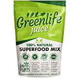 Greenlife Juice 100% Natural Superfood Juice Mix Vegan Green Fruits & Vegetable Powder Drink - 29 Servings (14oz - 396g)