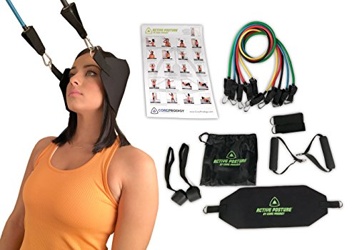 Core Prodigy Active Posture Corrector for Men and Women with Neck Brace Support - Neck, Upper Back, Head, Shoulder and Body Pain Relief Rehab Workout Equipment