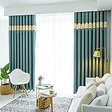 ZLYH Cortina 2018 Dormitorio Acabado Sala de Estar Simple Moderno de Gama Alta Estilo nórdico apagón (Tamaño : 1.5 * 2.7m)