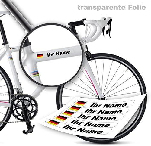 Style4bike Namensaufkleber Druck Top Qualität Fahrrad Aufkleber Name Als Aufkleber S4b0druck Sport Freizeit
