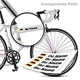 style4Bike Namensaufkleber Druck | Top Qualität | Fahrrad Aufkleber Name als Aufkleber | S4B0DRUCK