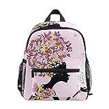 Mochila escolar con mariposas de San Valentín rosa para niños y niñas, mochila escolar de 3 a 8 años de edad preescolar