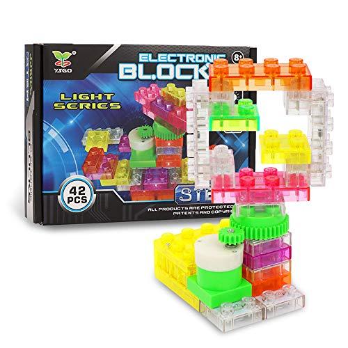 welltop 42 DIY Schaltungen für Kinder Elektronische Entdeckung Kit Pädagogische Elektronische Block Kit Wissenschaft Experimente Kits Kit Spielzeug fürAb 8 Jahren Kinder