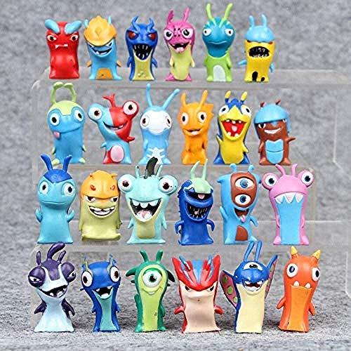 No 24 unids/Lote 5 cm película de algodón Mini Slugterra PVC Figura de acción muñeca Animales Juguetes para niños Regalos