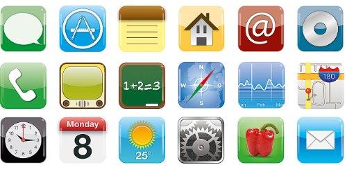 Your Design Kühlschrankmagnet: Originelle XL-Magnete im App-Design, 18 Verschiedene Motive im Set (Bilder Magnete)