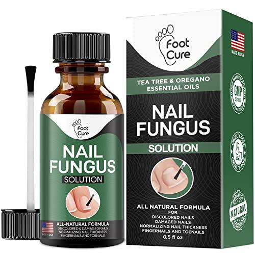 Foot Cure Extra Strong Nail & Toe Fungus Treatment - Made In USA, Best Nail Repair Set, Fungi Fingernail & Toenail Solution, Fix & Renew Damage Fungal Nail, Broken, Cracked & Discolored Nails 1 Pack