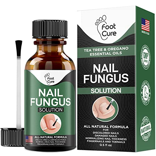 Foot Cure Extra Strong Nail & Toe Fungus Treatment - Made In USA, Best Nail Repair Set, Fungi...