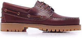 Castellanísimos Zapato Náutico de Hombre en Piel Marrón con Cordones Estilo Montañero