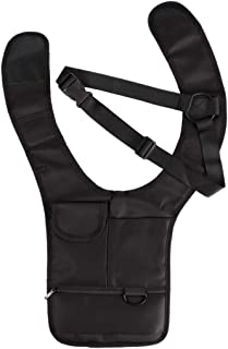 PQZATX Anti-Theft Hidden Underarm Shoulder Armpit Bag Backpack Phone Bag Wallet Travel Pocket RFID Hidden Shoulder Wallet Pouch for Men