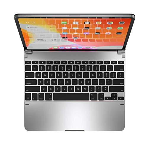 Brydge Pro 12.9 Keyboard for iPad Pro 12.9-inch 3rd Generation, 2018 Model Only   Aluminum Wireless Bluetooth Keyboard with Backlit Keys   Long Battery Life   (Silver)