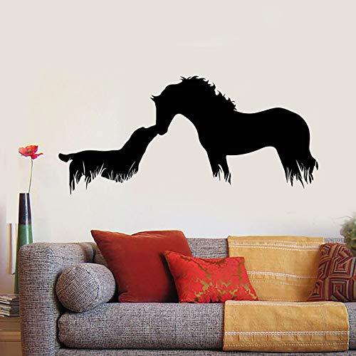SUPWALS Horse Dog Wall Decal Abstract Friendly Animal Vinyl Window Stickers Veterinary Clinic Pet Shop Interior Decor Art Wallpaper